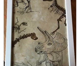 Beautiful framed dinosaur picture