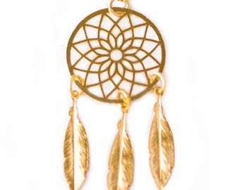 DREAMCATCHER - Dreamcatcher Necklace - Ethnic Necklace - Boho Necklace - Gold Necklace - Silver Necklace - Mandala Necklace - Folk Necklace