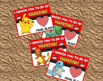Pokemon Valentine Day Cards