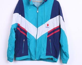 Canada Womens L Bomber Jacket Track Top Sport Vintage