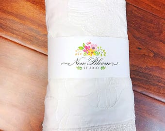 Lace edged pillowcase