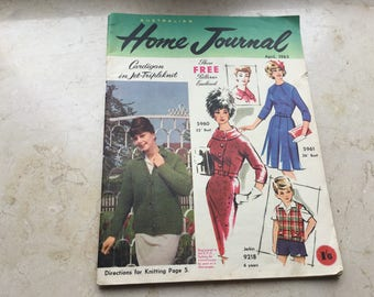 1963. VINTAGE Womens Magazine - AUSTRALIAN Home Journal with unused patterns