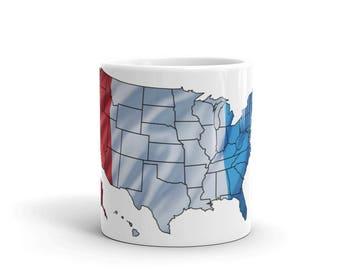 France-Usa Mug Proud French-American