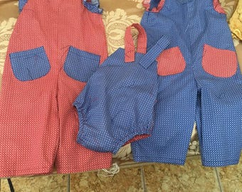 Baby Romper and overalls, cotton.