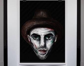 Art portraits - Printable art - Set of 6 portraits