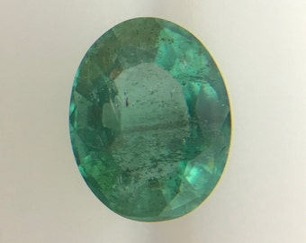 1.33Cts Natural Zambian Emerald SI AAA Grade 8X6MM Oval Cut Faceted Wholesale Lot Loose Gemstone