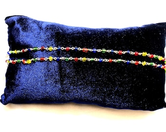 Multi color bead anklets