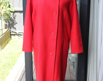 Feminella full length Red wool coat