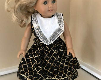 """18"""" doll dress made to fit an American Girl doll"""