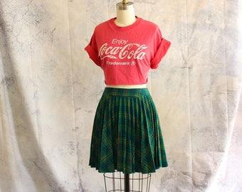 vintage cut off Coca Cola t-shirt . short midriff tee Enjoy Coke, one size fits many