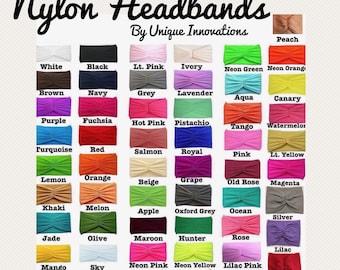 Baby Girl Nylon Headband / 55 Solid Colors To Choose / Toddler Headband / Turban Headband / Headband Supplies / Hairband / Newborn Headband