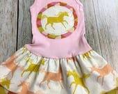 Girl's Tank Dress - Pink Unicorn - Infant Baby  Tod...
