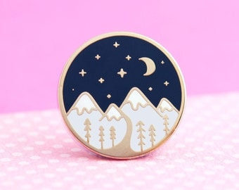 Mountain Pin - Cute Enamel Pin for Jackets and Backpacks