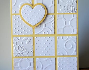 Card - Blank - Any Occasion - Patchwork in Yellow