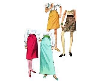 60s Aline Skirt pattern Maxi Skirt pattern SALE A-line Skirt pattern vintage 32-24-34.5 Waist 24 Simplicity 24