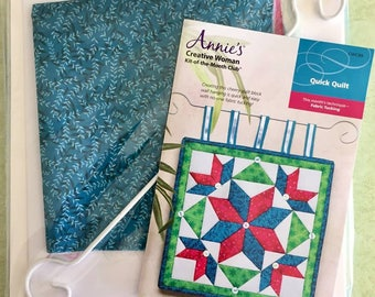 QUILTING KIT ~ Creative Woman Fabric Tucking Kit ~ Quilt Kit-of-the-Month Annie's Quick Quilt