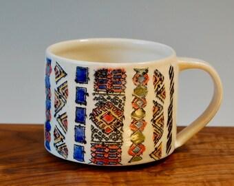 Moroccan Rug Mug (Zig Zag)