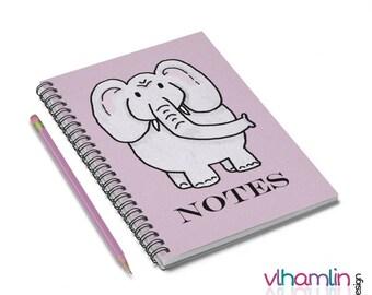 Elephant Notebook - Elephant Spiral Notebook - Elephant Notes - Elephant Gifts - Spiral Notebook