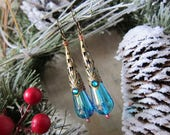 Ice - Iridescent Blue Vintage Lucite Drop Earrings