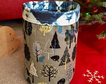 Forest Cats Cat Toy Basket, Pet Toy Storage Bin, Cat Lady Cat Lover Gift