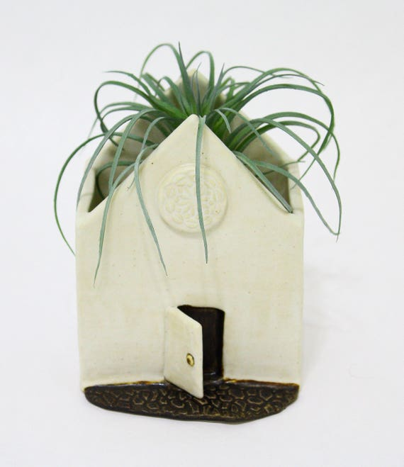 Planter - Ceramic Succulent Planter - Cactus Planter - Small Planter - Ceramic House Planter - Pottery Planter - Rustic Planter - Succulent
