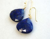 AAAA Phenomenal Quality Large Lapis Focal drop earrings on 14kg fill...