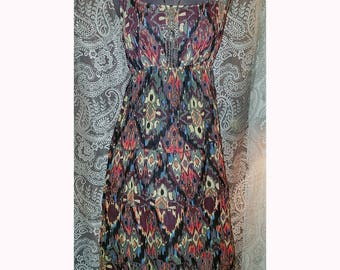 Vintage Boho Summer Dress Hippie Witchy Gypsy Small Medium