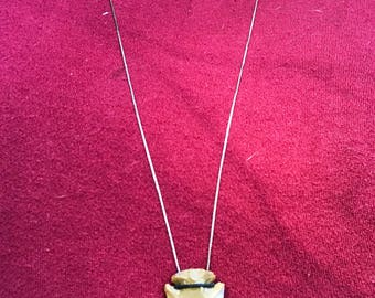 Tan Arrowhead Pendant