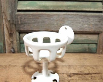 Vintage  Soap cup toothbrush Holder Unique Industrial Shabby hardware restoration white Bathroom