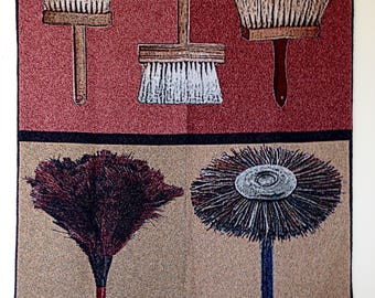 Jacquard woven wall hanging, Brushes, by Laura Foster Nicholson. Free US shipping