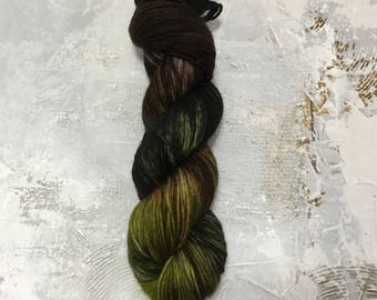 Hand Dyed Yarn - DK weight Yarn - Can We Talk - merino