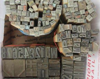 Child's Vintage Printing Set - Wooden Printers Blocks/ Sticks - Incomplete Set - 175 Pieces