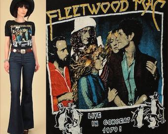 ViNtAgE 70's Fleetwood Mac T-Shirt // 1979 Tusk Tour Shirt // Rock Concert T Shirt Stevie Nicks Small Medium S M