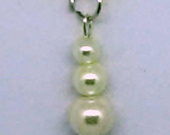 White Snowman Pendant Necklace