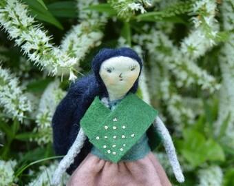 Raven - Handmade doll/Puppet