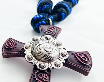 Paisley Door Rosary for Your Home, Office, Favorite Catholic, Birthday, Retirement. Unique Handmade Religious Gift.DR112