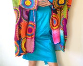 Wearable Art/Plus Size Open-Front Cardigan Women/ MADE TO ORDER - Oversize Boho Sweater/ Women's Clothes/ Maternity Clothing