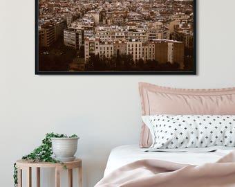 Modern Photography, Barcelona Spain, City Photography, European Decor, Film Photography, Loft Art, Office Wall Art, Catalan, Clouds