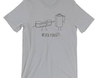 Never Forget Retro Film Shirt, Photography Shirt, Gift for Photographer, Photographer Shirt, Camera Shirt, Retro Clothing, Film Shirt