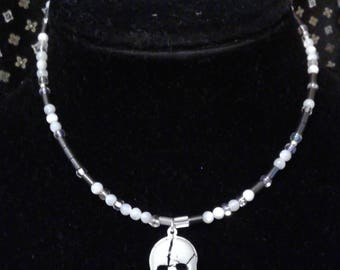 Skull Morse code necklace