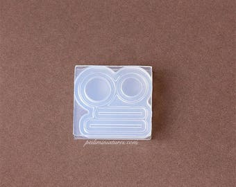 Dollhouse Miniature Mason Jar Cap and Straw Silicone Mold