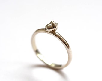 Acorn Ring, Sterling Silver, Autumn Ring, Handmade in Brighton, uk