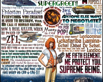 Supreme Being- Fifth Element tribute- signed print