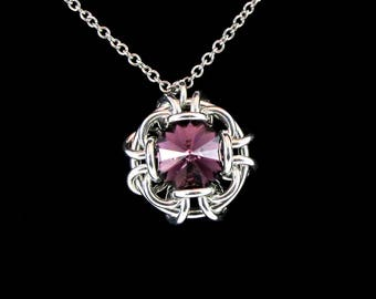 Amethyst Swarovski Crystal Conjure Pendant