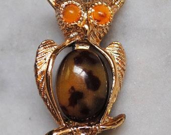 Vintage Gerrys Jelly Belly Owl Pin - SALE