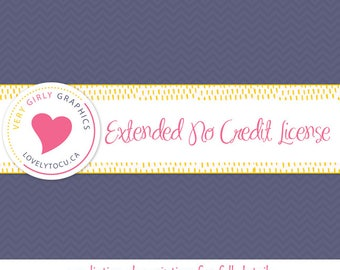 Extended No Credit License stock or custom graphics, extra permissions included, per image set licensing (LIC01)
