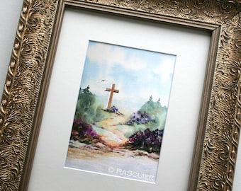 PRINT - Julia's Cross - Giclée Fine Art Print - 5x7 inches Matted to Fit 8x10