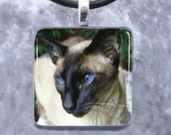 Custom Glass Pendant 1x1 Jewelry Necklace Earrings from your photo