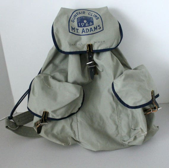 1966 Mt. Adams Sunfair Club Backpack, Vintage Yakima WA Back Pack Hiking Bag