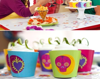 Fiesta PRINTABLE Party Collection - You Customize EDITABLE TEXT >> Instant Download   Paper and Cake